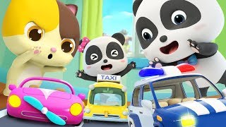 Toy Car Race | Police Car, Fire Truck, Ambulance | Nursery Rhymes | Kids Songs | BabyBus