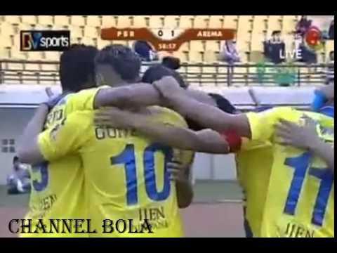 PBR vs Arema (0-1) Gol Cristian Gonzales Indonesia Super League 2014