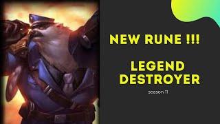 The best rune ! legend destroyer for volibear gameplay league of legends season 11