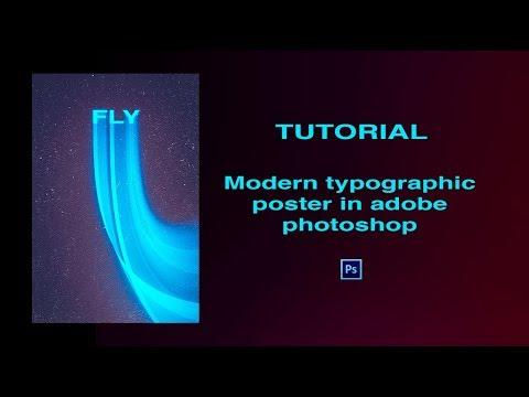 TUTORIAL - Modern typographic poster in adobe PHOTOSHOP thumbnail