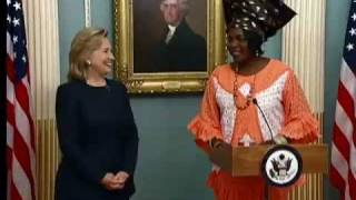 U.S. Secretary of State Hillary Rodham Clinton and U.S. Assistant S...