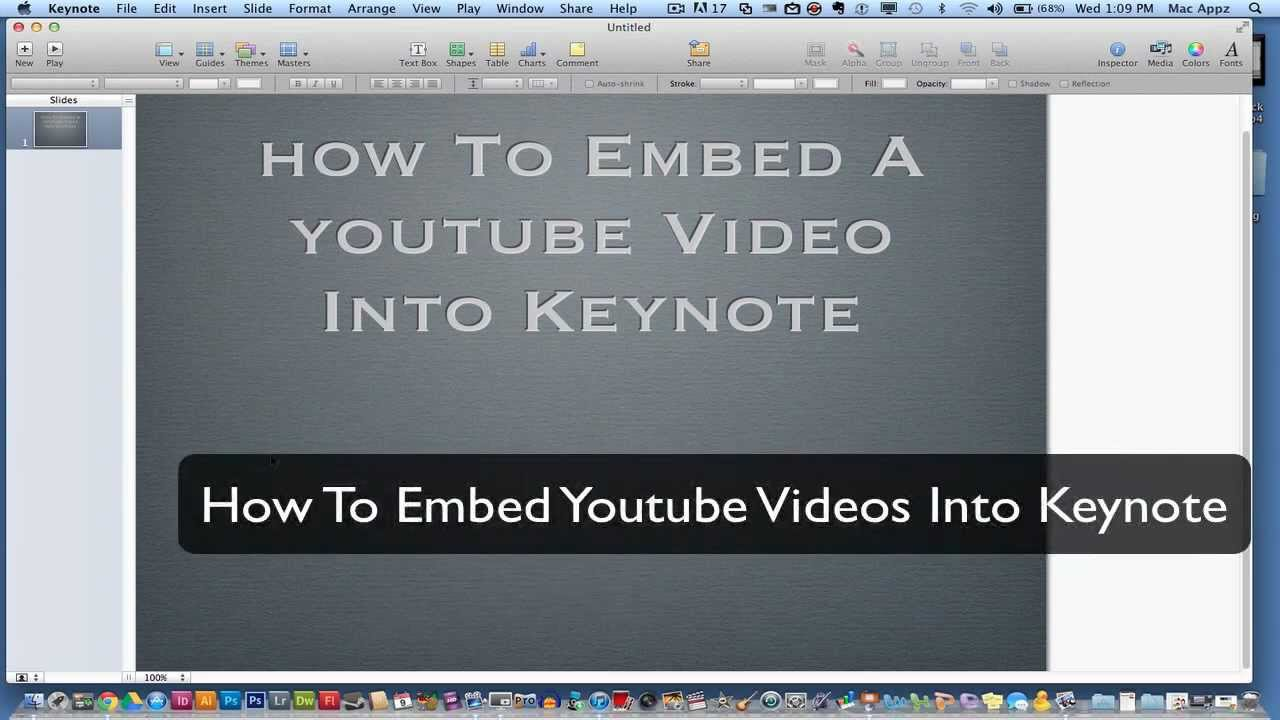 Keynote tutorial how to embed youtube videos into keynote youtube ccuart Images