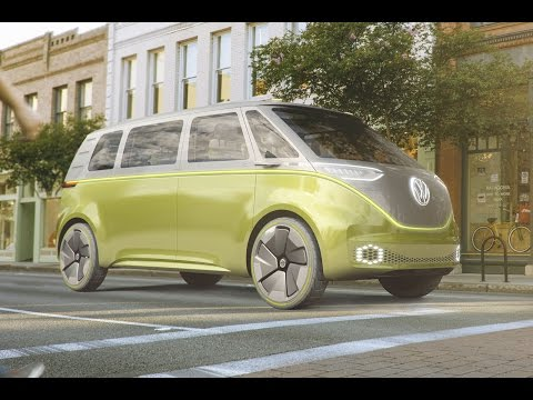 Volkswagen ID Buzz concept car   Detroit motor show 2017