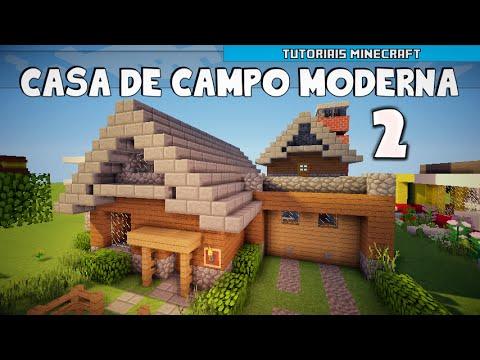 Minecraft como construir uma casa de campo moderna parte for Casa moderna en el campo