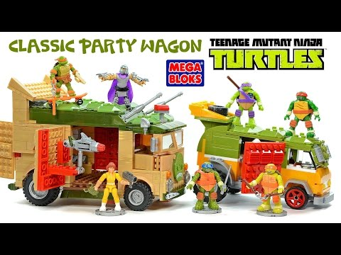 Mega Bloks Teenage Mutant Ninja Turtles Classic Party Wagon Speed Build W/ April O'Neil & Shredder