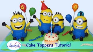 How to make Minions with gum paste / Minions en pasta de goma para tortas
