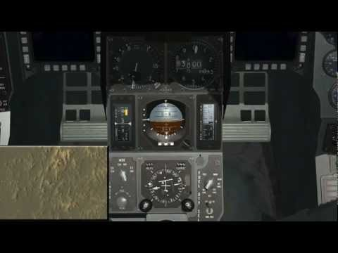Falcon BMS TACAN and ILS landing tutorial