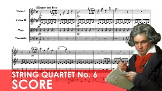 BEETHOVEN String Quartet No. 6 in B-flat major (Op. 18, No. 6) Score