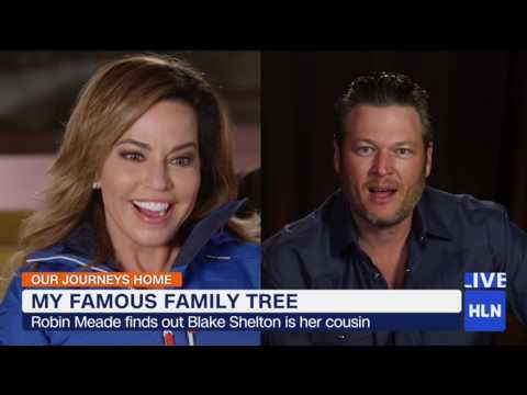 """HLN's Robin Meade learns that Blake Shelton is her cousin"""