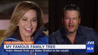 hln s robin meade learns that blake shelton is her cousin