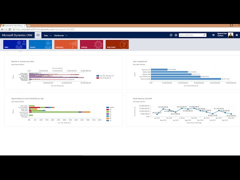 Microsoft Dynamics CRM Demo - Sales Overview 2016 Online