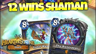 BUSTED Tidal Wave/Runespear 12 Wins Shaman Deck in Duels - FULL FUN ft. Firebat | Zalae Hearthstone