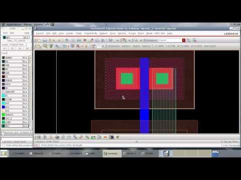Cadence tutorial - CMOS  Inverter Layout