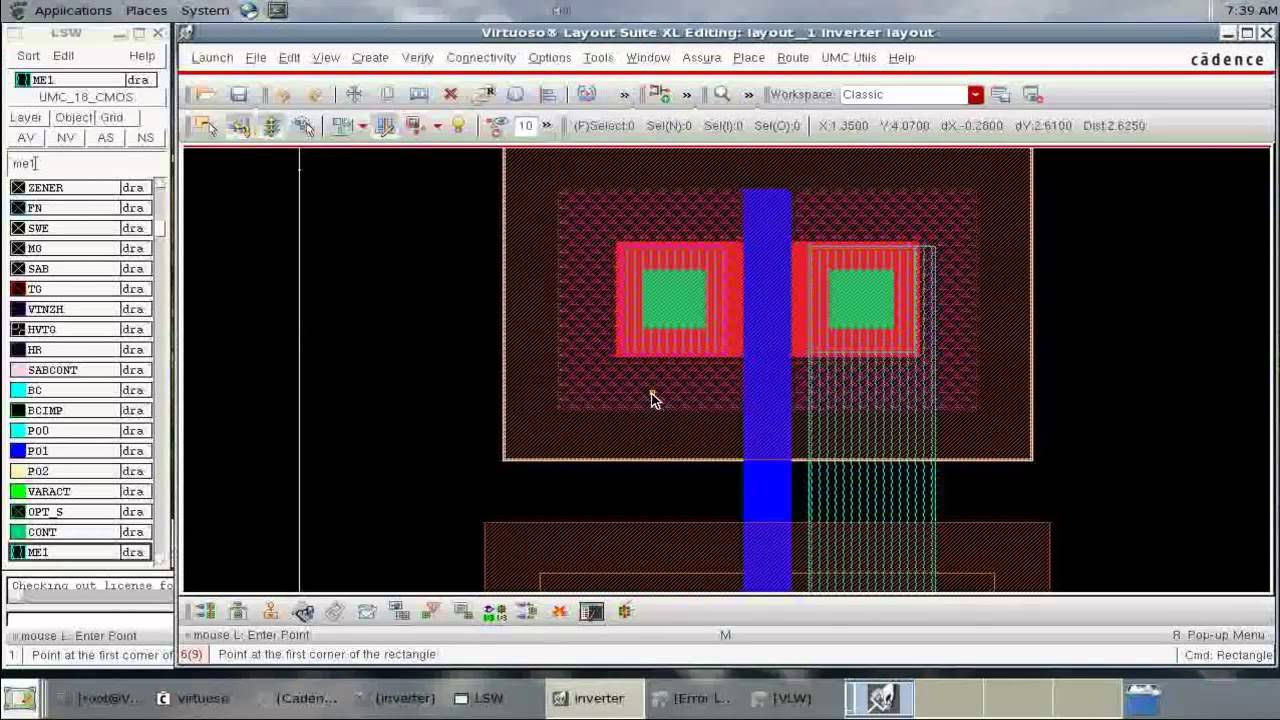 Cadence tutorial - CMOS Inverter Layout - YouTube