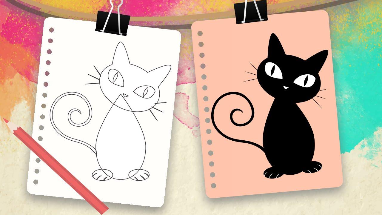 Como Dibujar Un Gato Para Ninos Dibujos Faciles De Animales