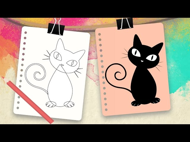 Cómo Dibujar Un Gato Dibujar Animales Paso A Paso