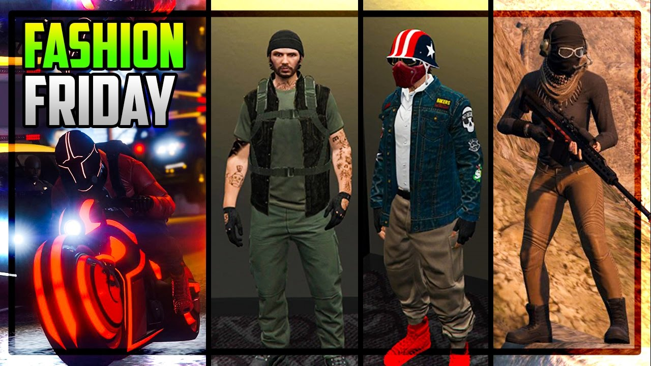 GTA 5 FASHION FRIDAY! 20+ AWESOME OUTFITS! (Frank Woods Badass Biker U0026 More) - YouTube