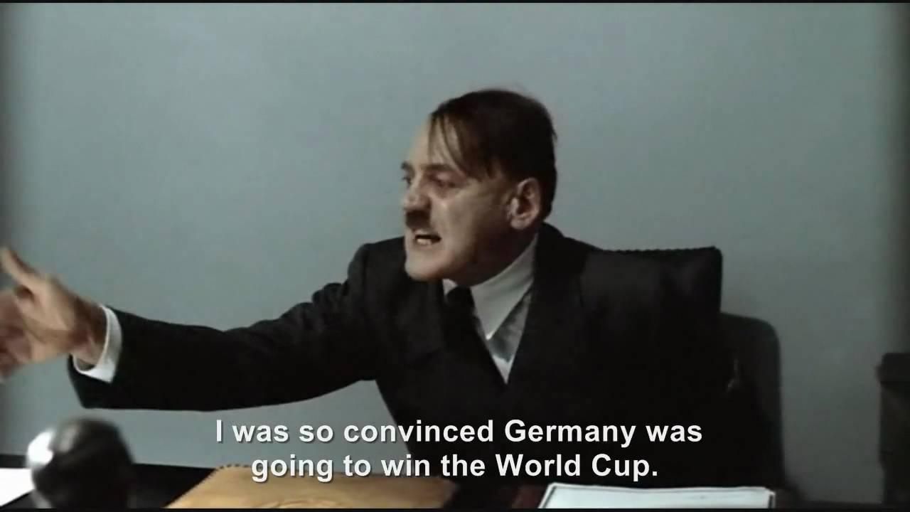 Hitler is informed Germany will beat Uruguay