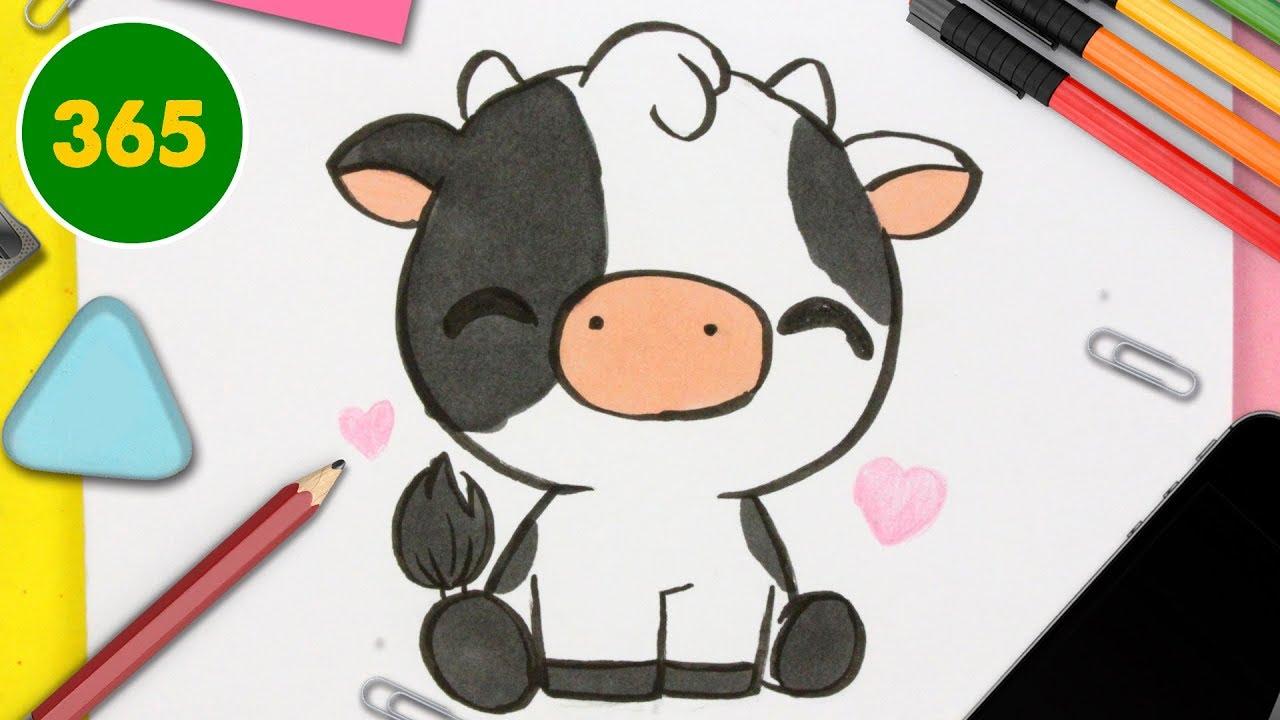 Comment Dessiner Une Vache Kawaii Dessins Faciles à Kawaii Comment Dessiner Des Animaux Kawaii