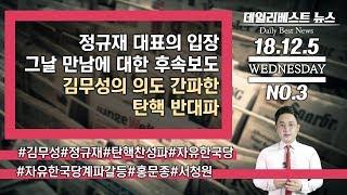 정규재 대표의 입장 / 그날 만남에 대한 후속보도 / 김무성의 의도 간파한 탄핵 반대파