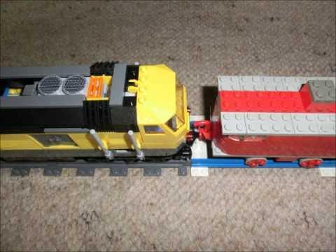 Lego Eisenbahn City 7939 Güterzug Gelbe Lok Gelber Stein Blaue Graue