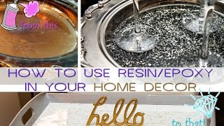 DIY | HOW TO USE RESIN ON YOUR SILVER DECOR