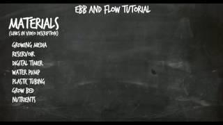 Εισαγωγή στο σύστημα υδροπονίας Ebb and Flow (Flood and Drain)