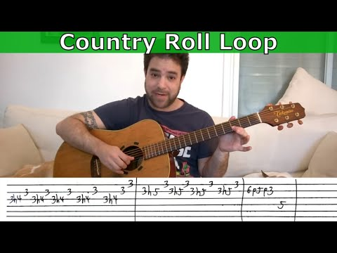 Guitar Trick #3 - Country Roll Loop - Lesson w/ TAB