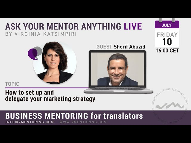 How to set up and delegate your marketing strategy with Virginia Katsimpiri FT. Sherif Abuzid