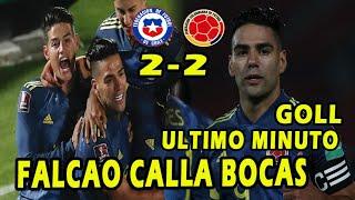 BESTIAL FALCAO GARCIA SALVA A COLOMBIA VS CHILE 2-2 GOL DE FALCAO GARCIA