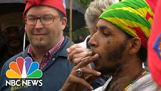 Supporters Of Legal Marijuana Arrested At