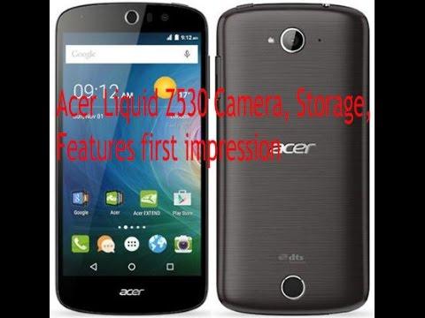 Acer Liquid Z530 Camera, Storage, Features first impression