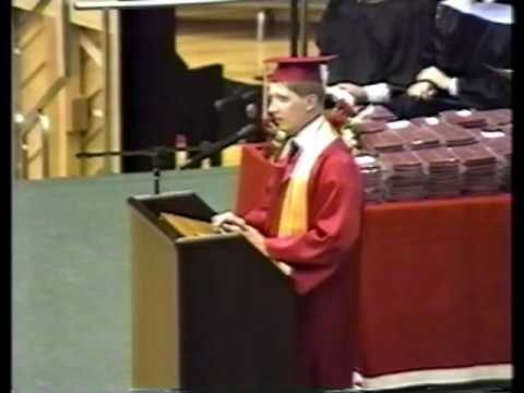 WWC Graduation around 1992, Michael Hensley Master of Ceremonies