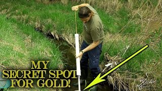 SECRET SPOT FOR GOLD! The Best Pan of Gold I've Ever Found!