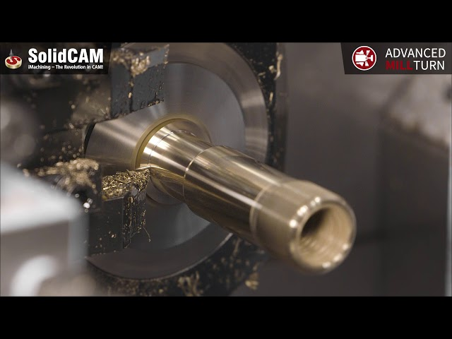 SolidCAM – Advanced MillTurn auf STAR SR-38 Typ B Langdreher