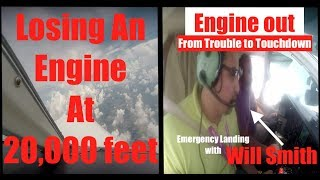 Emergency Landing | Will Smith | Engine Out | LIVE ATC  | Squawk 7700 | Cessna 414