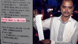 New Motor Vehicles Act   Auto-rickshaw driver from Odisha fined Rs 47,500