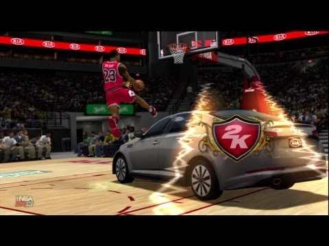 NBA 2K13 All Star Dunk Contest: Legend Showdown! | Jordan, Wilkins, Drexler and Bryant