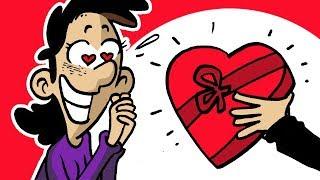 SAN VALENTINO? MA ANCHE NO! Coppie e amore - Vignette animate divertenti
