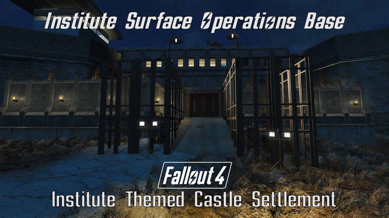 fallout 4 institute themed castle settlement