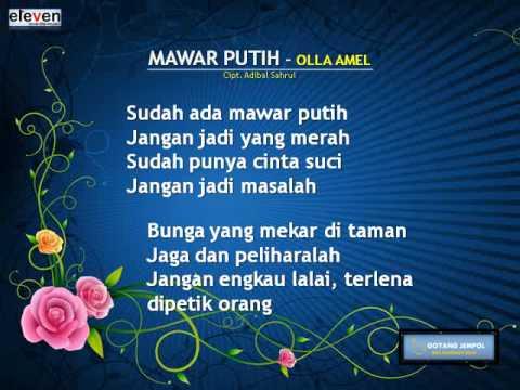 MAWAR PUTIH   OLLA AMEL Song Lyric By Goyang Jempol