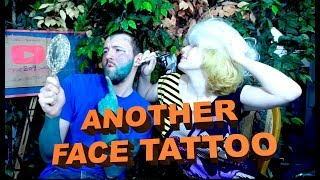 My sister learns how to tattoo - ON MY FACE