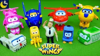 Super Wings World Airport Crew Jimbo Jett Donnie Dizzy Transforming Airplane Bot Toys Video for Kids