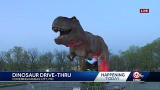Take an up close look at dinosaur drive-thru at Worlds of Fun