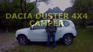 dacia duster 4x4 mini camper