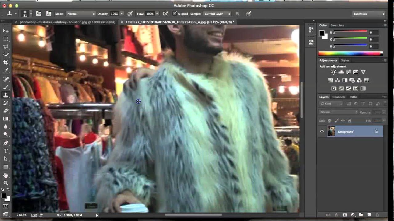 Photoshop Elements > Clone Stamp Tool > 1 - Basics