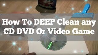 How to clean a CD, DVD, Blu-ray
