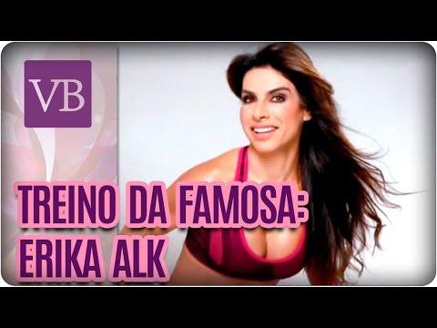 Treino da famosa: Erika Alk - Você Bonita (23/08/16)