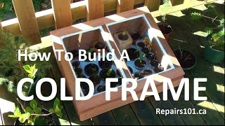 Cold Frame For Balconies & Patios - How To Build