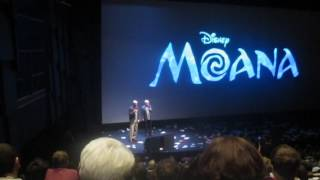 John Musker & Ron Clements Presenting Moana At The Annecy Festival 2016